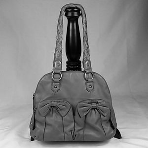 ISABELLA FIORE ITALIAN LEATHER DOMED SATCHEL LG